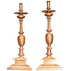 Imposing Pair of Candlesticks 17th Century of Spain