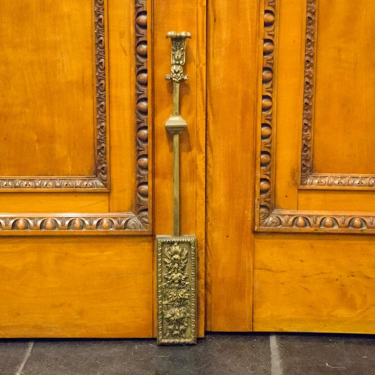 Imposing Pair of Carved Satin Wood Doors For Sale 2