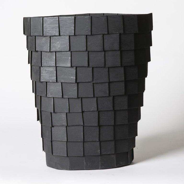 Modern Impressione Iron Vase For Sale