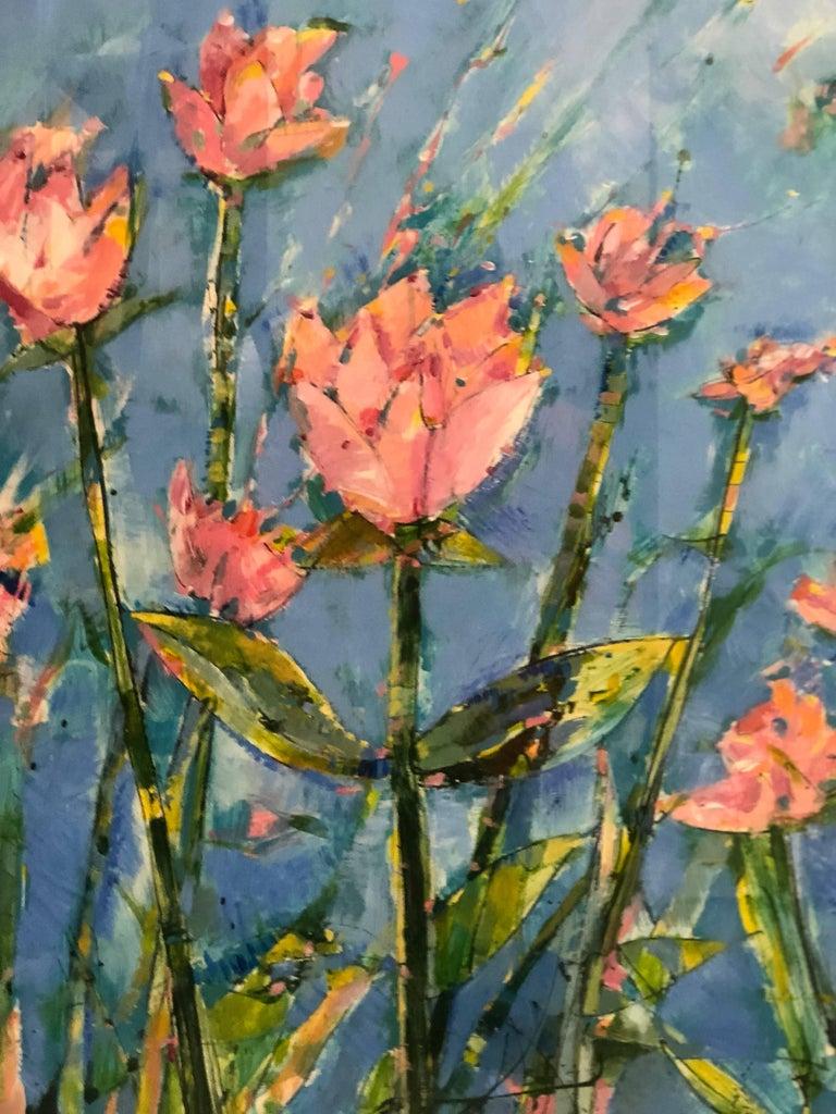 Modern Painting of Flowers in the School of Matisse by James Antonie For Sale