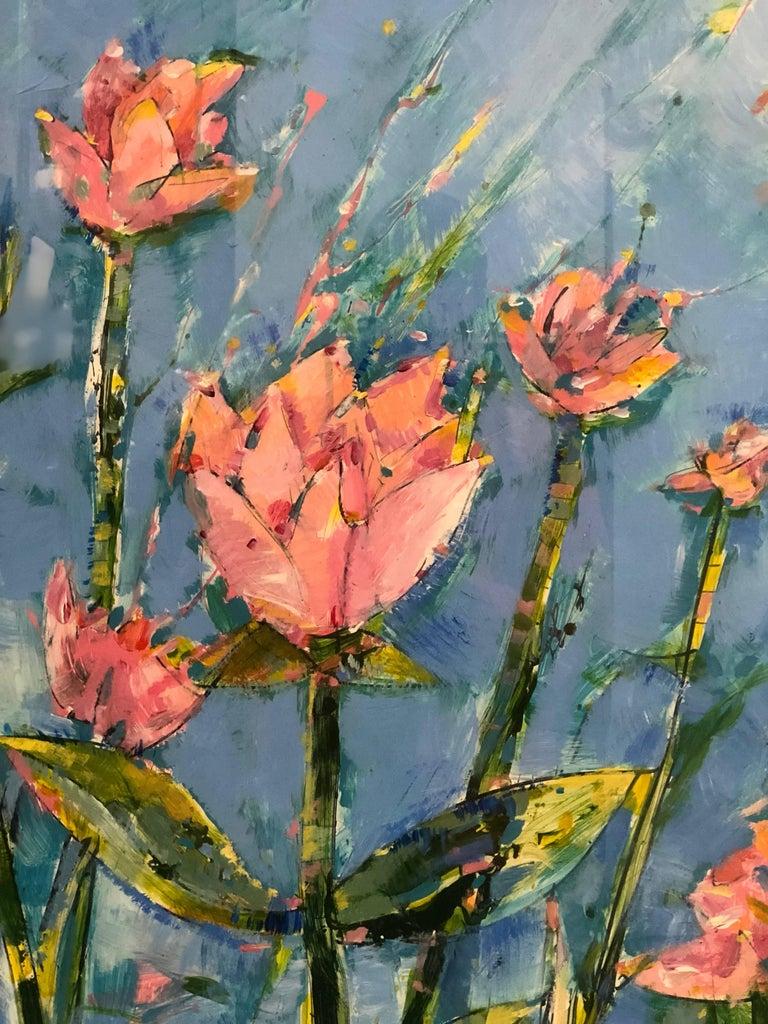 American Painting of Flowers in the School of Matisse by James Antonie For Sale