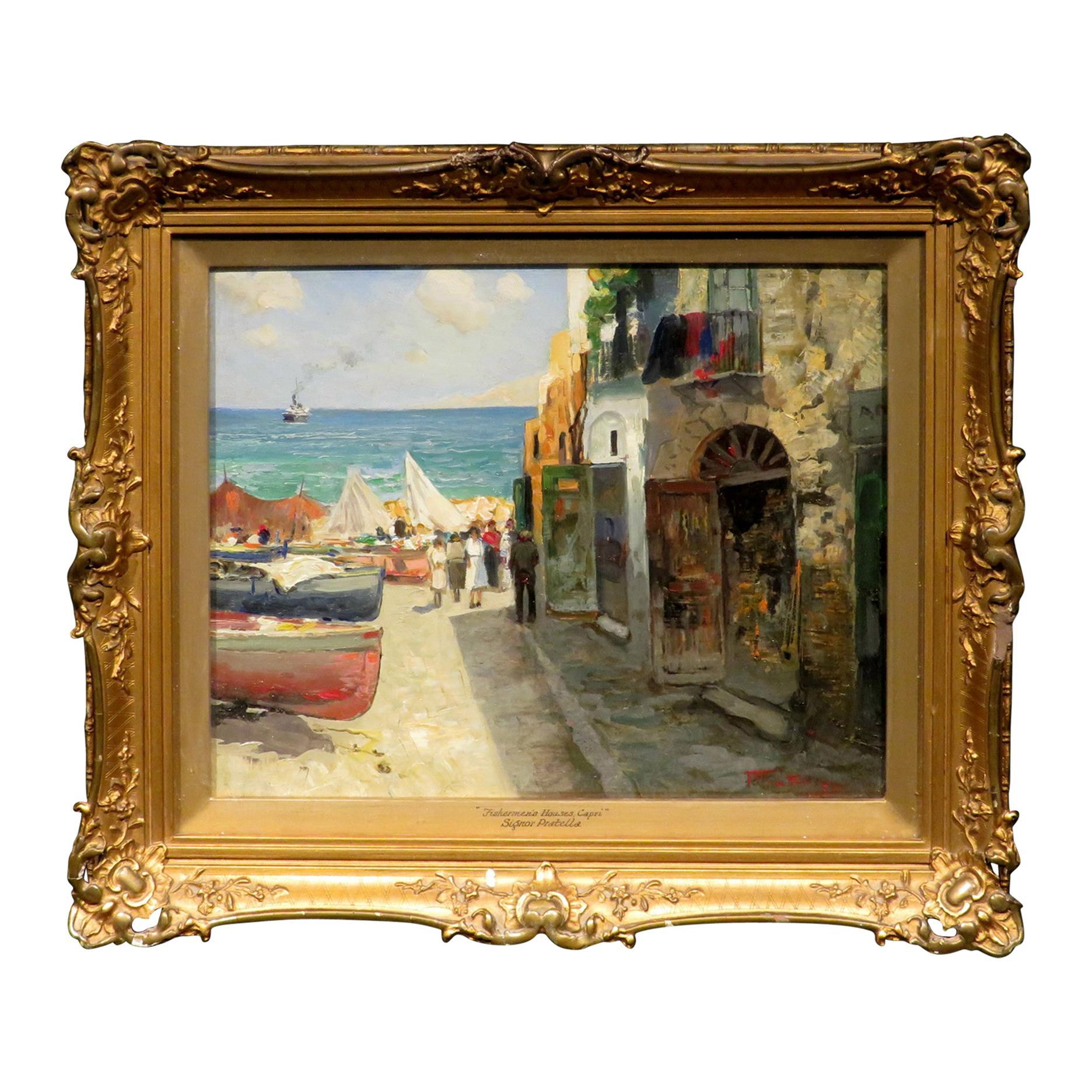 Impressionist Italian Coastal Landscape by Paolo Pratella (1892-1980)