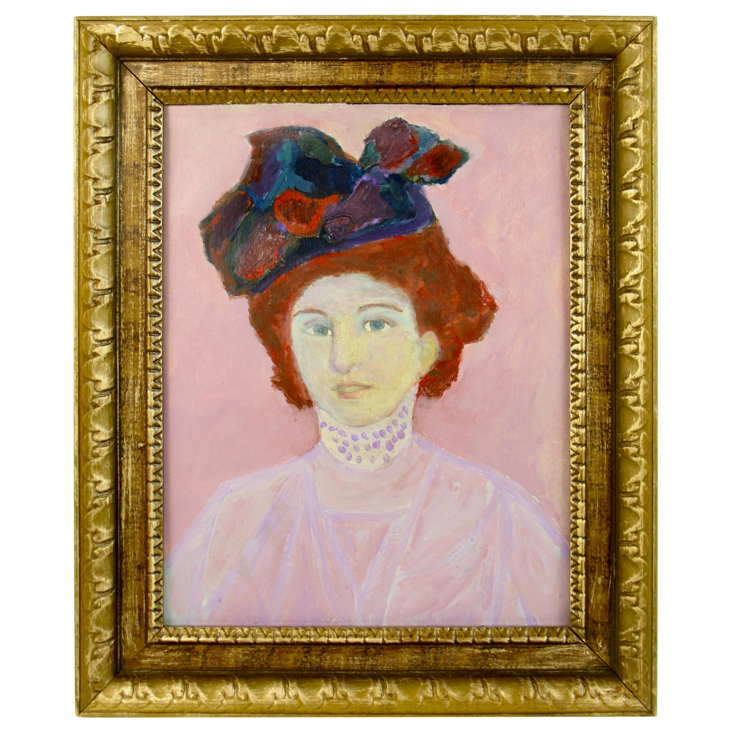 French Impressionist Lady Portrait Painting