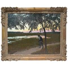 Impressionist Landscape by Early 20 Century Hungarian Artist Barkasz Lajosbarkaz