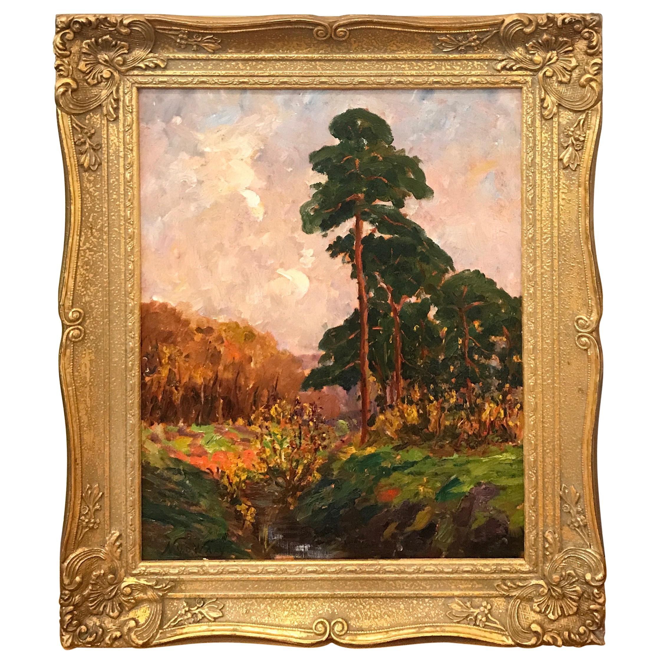 Impressionist Landscape by Nicolaas Van Der Waay, Dutch '1855-1936'