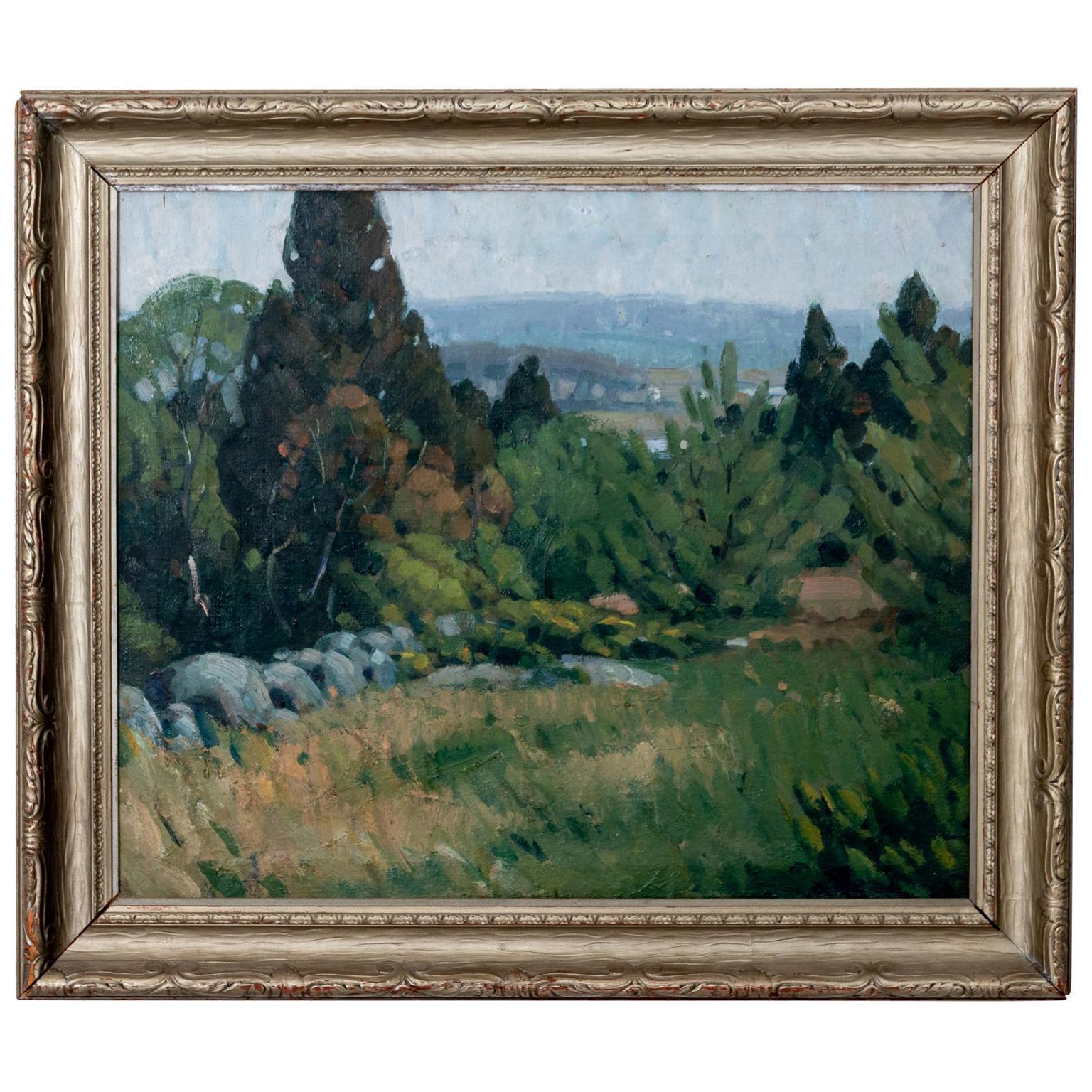 Impressionist Landscape Oil on Canvas