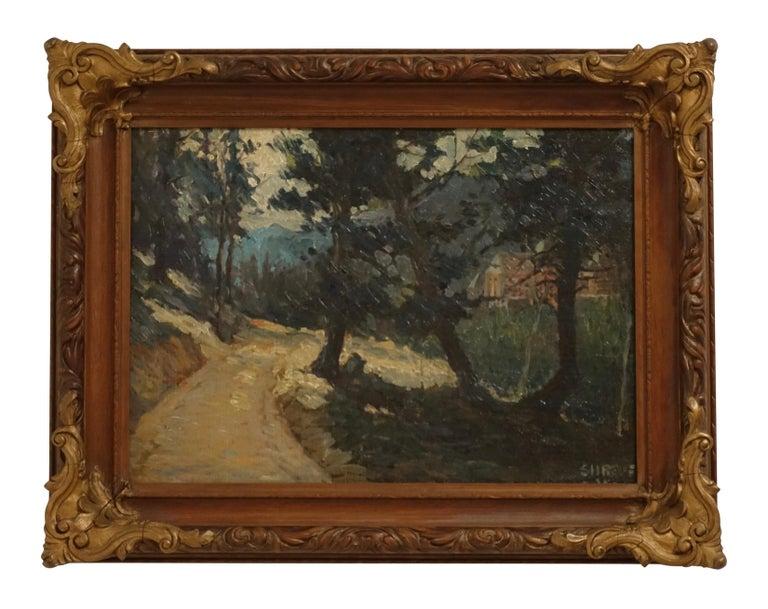 Impressionist Landscape Painting, Signed Shreve 1923 For Sale 3
