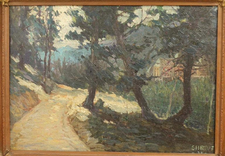 American Impressionist Landscape Painting, Signed Shreve 1923 For Sale