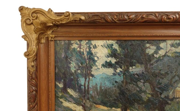 Canvas Impressionist Landscape Painting, Signed Shreve 1923 For Sale
