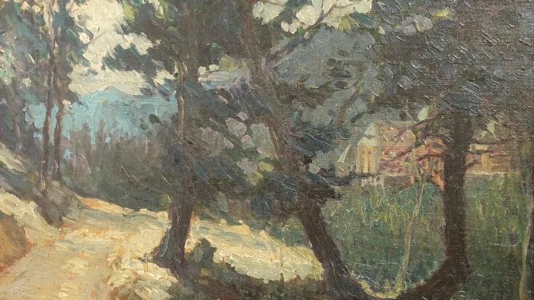 Impressionist Landscape Painting, Signed Shreve 1923 For Sale 2