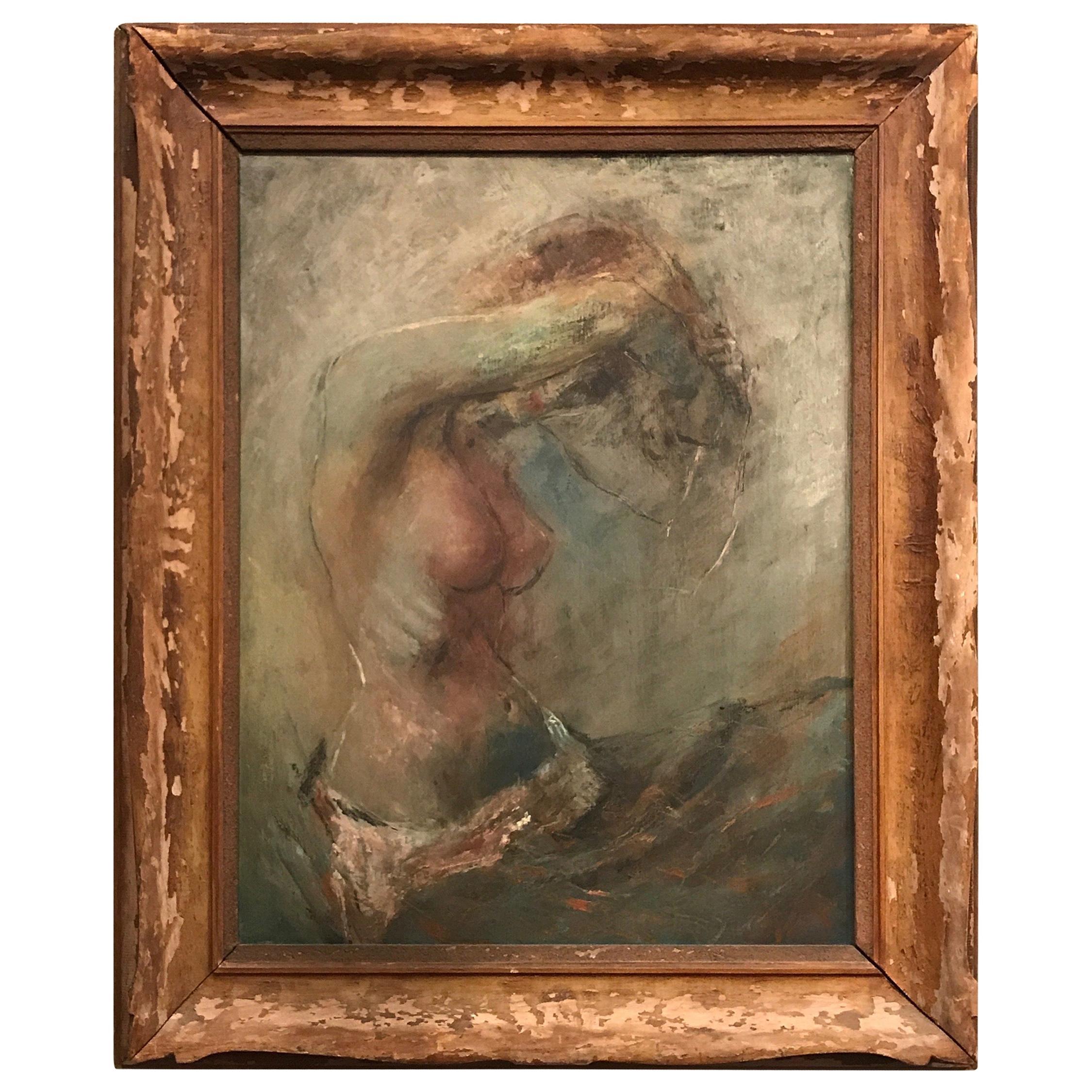Impressionist Oil Painting, circa 1900 Artist Signed