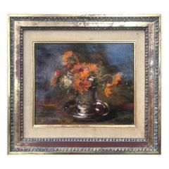 """Impressionist Painting by Auguste Boulard """"Vase De Fleurs"""""""