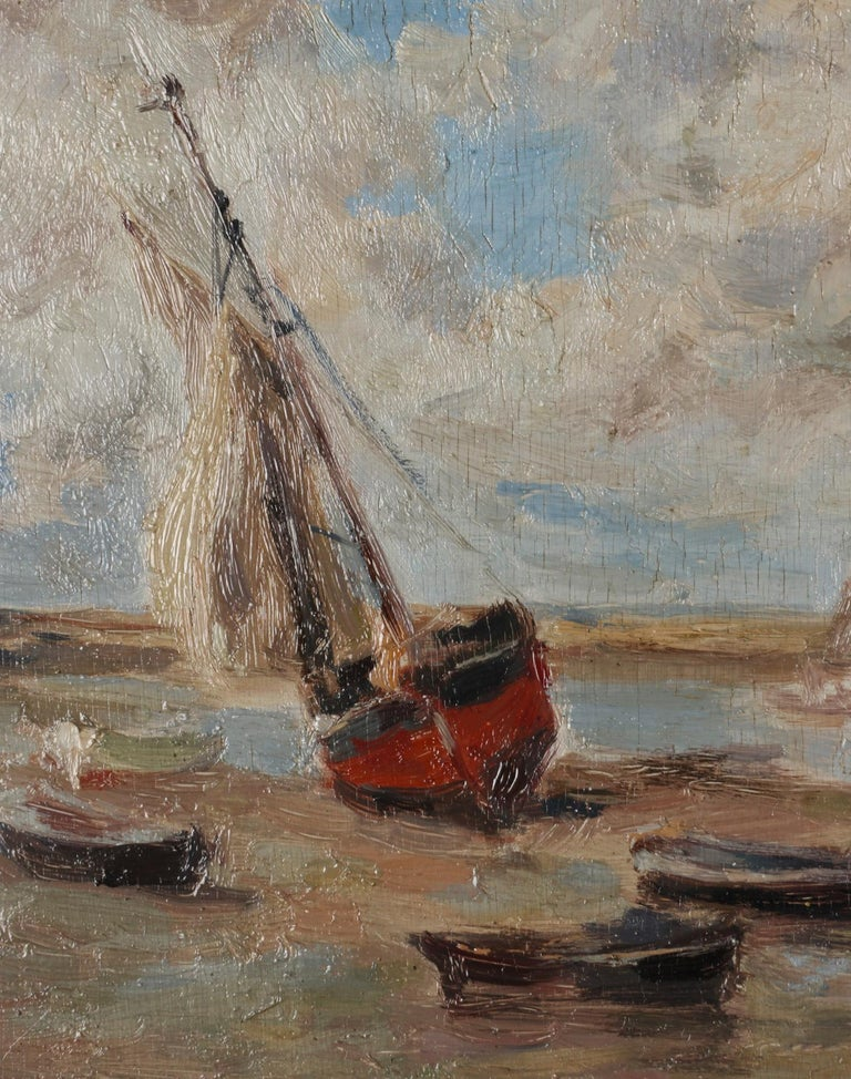 Hand-Painted Impressionist Painting by Victor Gilsoul, Flemish School circa 1900 For Sale