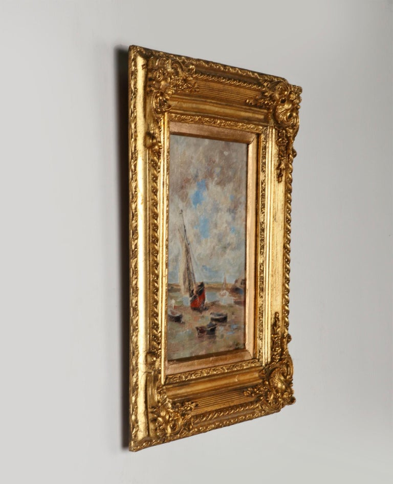 20th Century Impressionist Painting by Victor Gilsoul, Flemish School circa 1900 For Sale