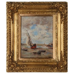 Impressionist Painting by Victor Gilsoul, Flemish School circa 1900