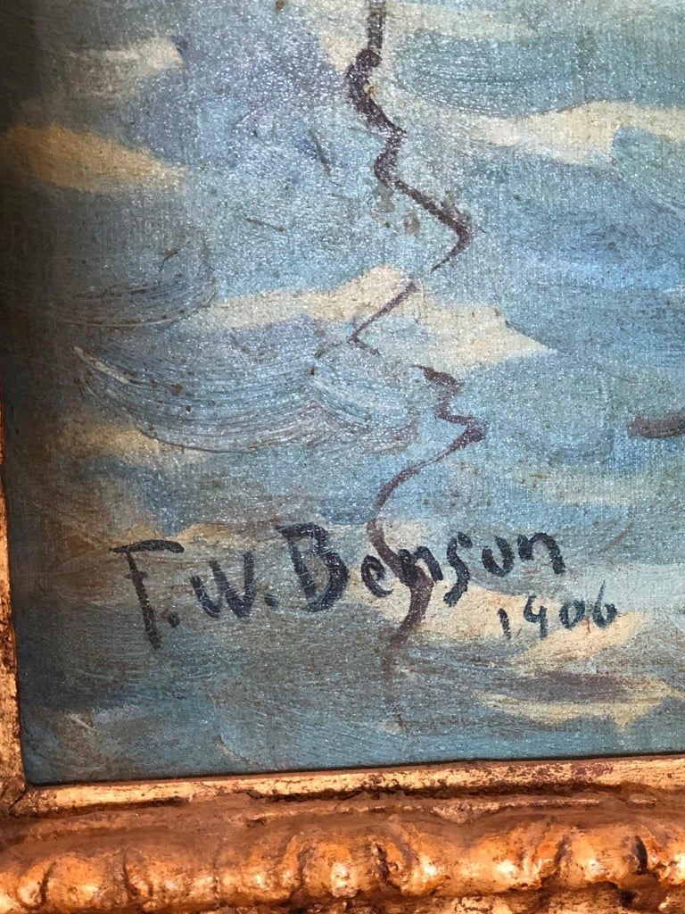 American Impressionist Painting Calm Morning in the Style of Frank Weston Benson For Sale