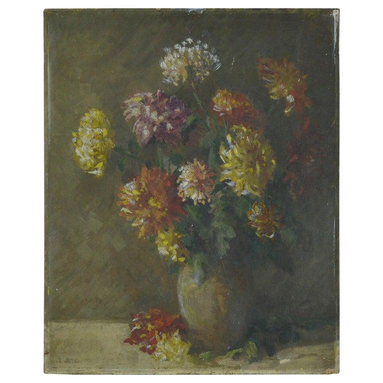 Impressionist Painting of Flowers, Amelia Stokes, circa 1920
