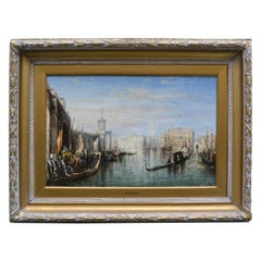 Impressionist Painting of the Grand Canal in Venice by Francis Moltino