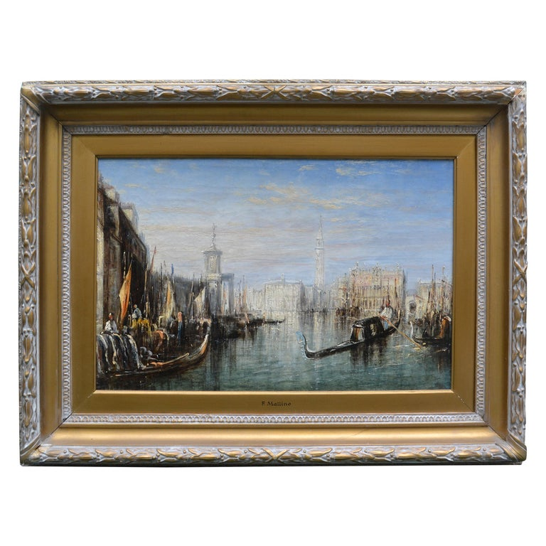 Impressionist Painting of the Grand Canal in Venice by Francis Moltino For Sale