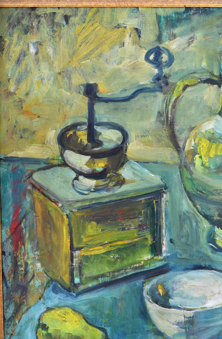 Expressionist German Still Life Oil Painting by Paul Kleinschmidt, 1946 For Sale 2