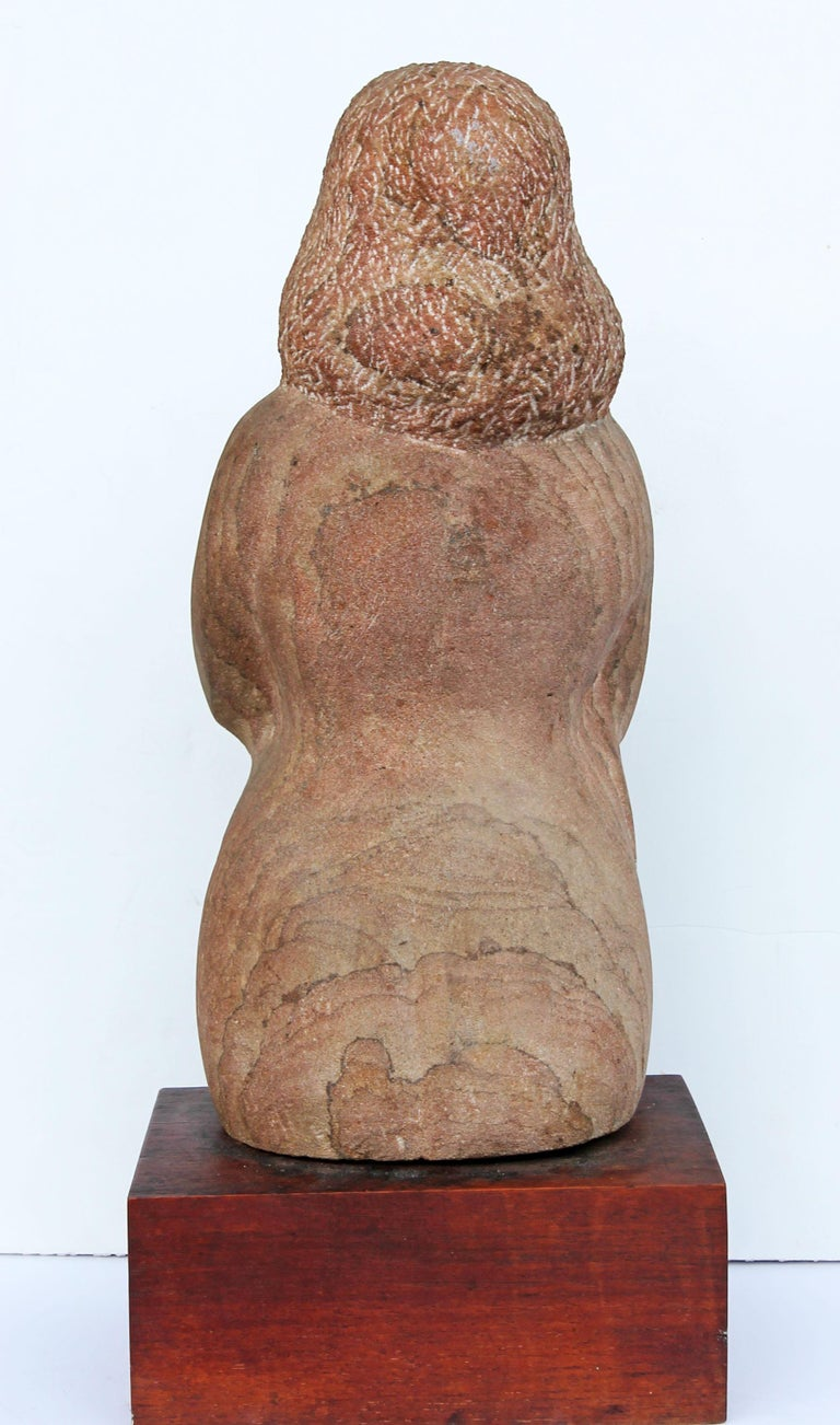 20th Century Impressionist Stone Sculpture of a Female Figure For Sale