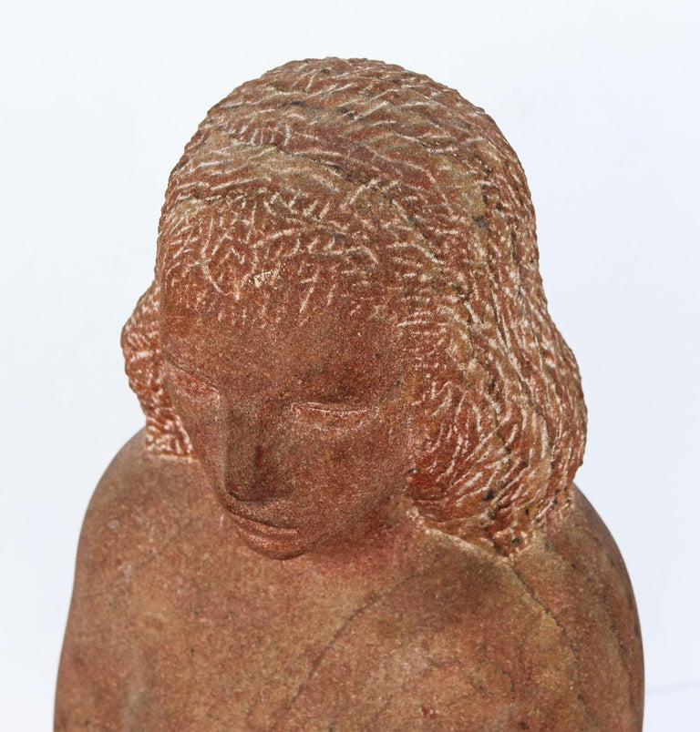 Impressionist Stone Sculpture of a Female Figure For Sale 1