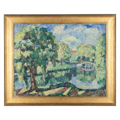 Impressionist Style Landscape Painting by John Dana Bashian