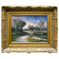 Impressionist Style Landscape Signed Paul Rubens
