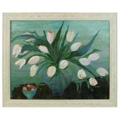Impressionist White Tulips Still Life, 1985