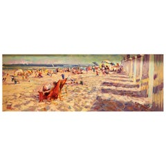 Impressionistic Beach Scene by Leon Holmes