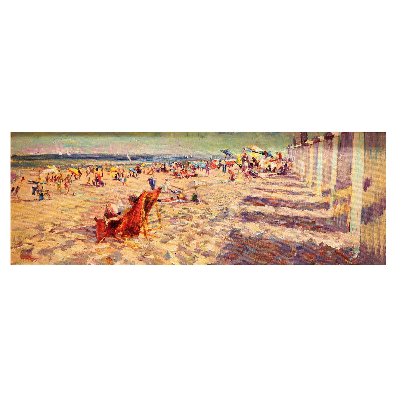 Impressionistic Beach Scene by Leon Holmes