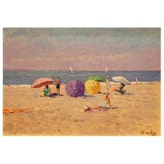 Impressionistic Beach Scene by Niek Van Der Plas