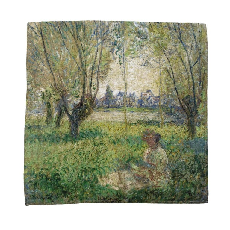 Impressionists-at-Leisure Belgium Linen Dish or Hand Towels In New Condition For Sale In Sebastopol, CA