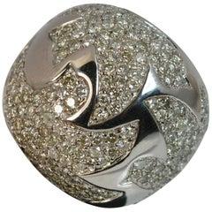 Impressive 180+ Diamond 18 Carat White Gold Cluster Cocktail Ring