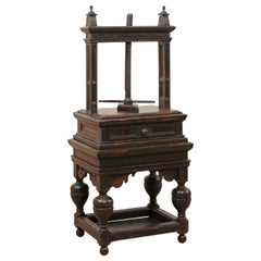 Impressive 18th Century Flemish Freestanding Book Press