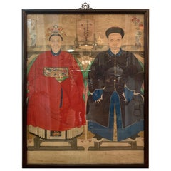Impressive 18th Century Large Chinese Ancestral Portrait