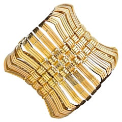 Impressive 1970s Custom Order Cartier Gold Bracelet