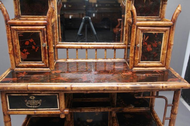 Impressive 19th Century Bamboo Cabinet For Sale 6