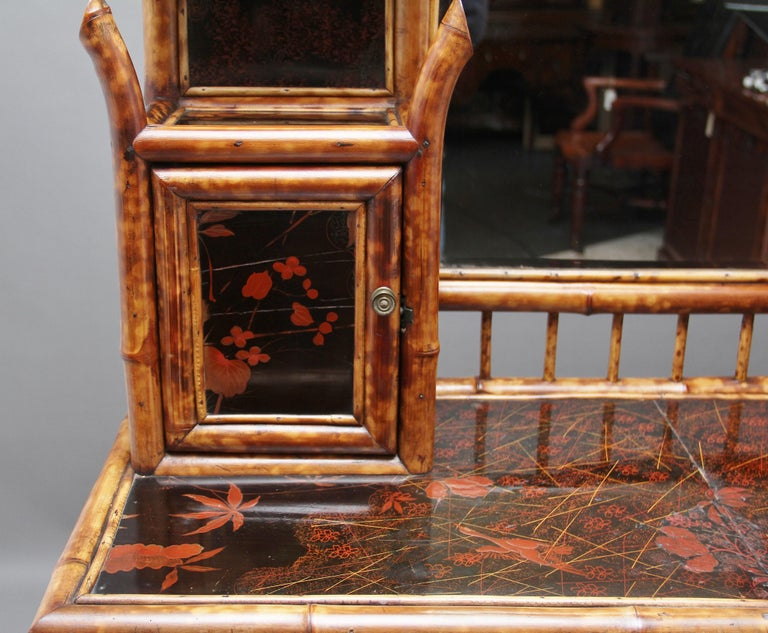 Impressive 19th Century Bamboo Cabinet For Sale 7