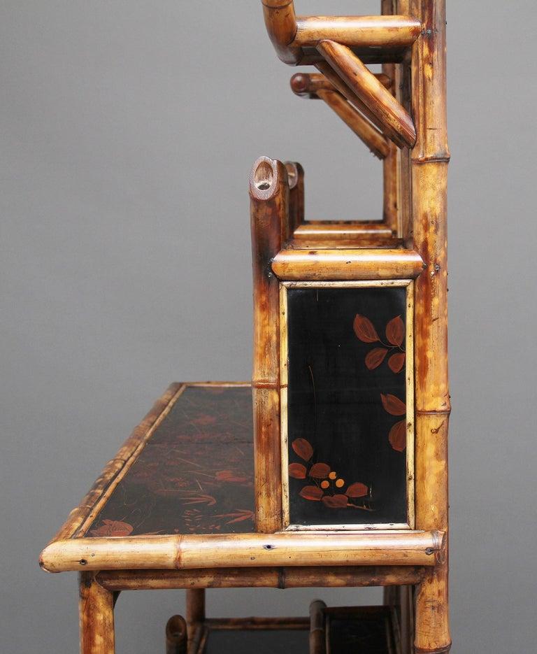 Impressive 19th Century Bamboo Cabinet For Sale 8