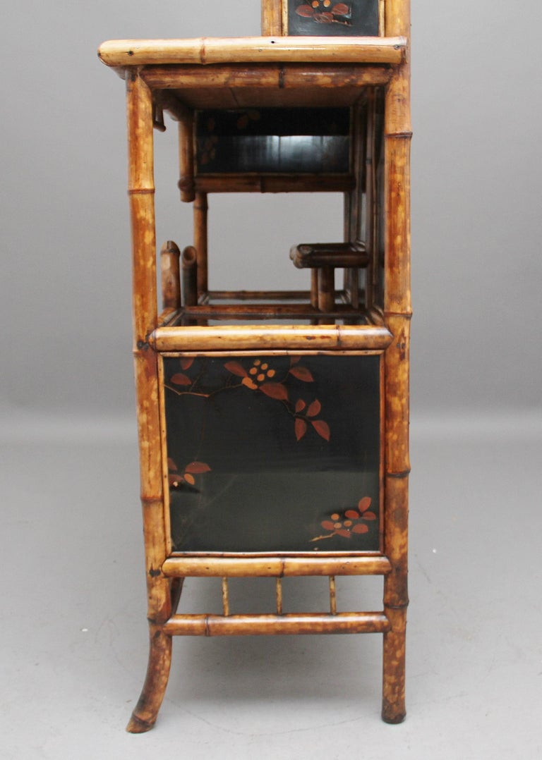 Impressive 19th Century Bamboo Cabinet For Sale 9