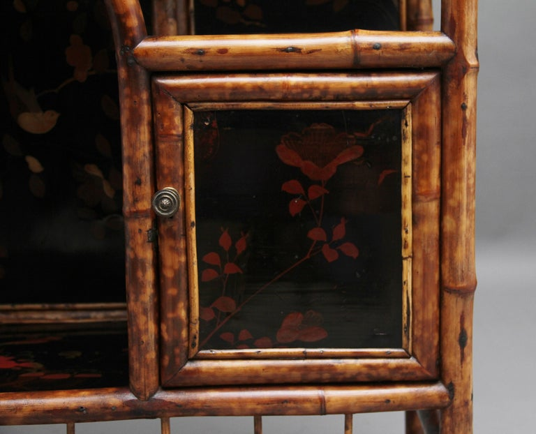 Impressive 19th Century Bamboo Cabinet For Sale 10