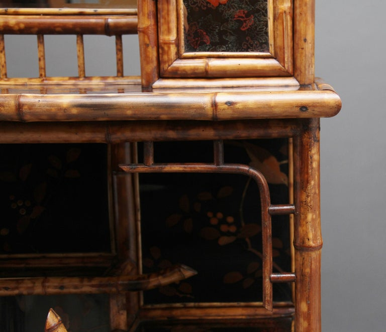 Impressive 19th Century Bamboo Cabinet For Sale 11