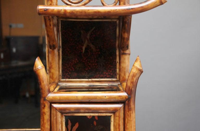 Impressive 19th Century Bamboo Cabinet For Sale 12
