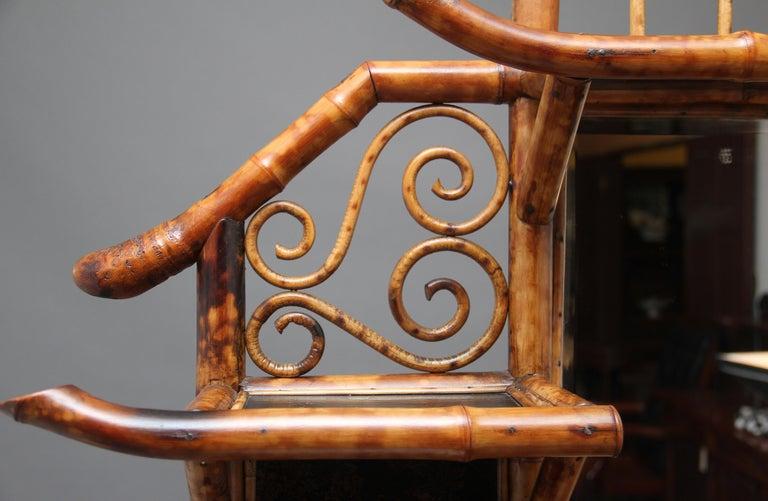 Impressive 19th Century Bamboo Cabinet For Sale 14