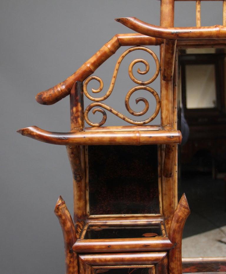 Impressive 19th Century Bamboo Cabinet For Sale 15