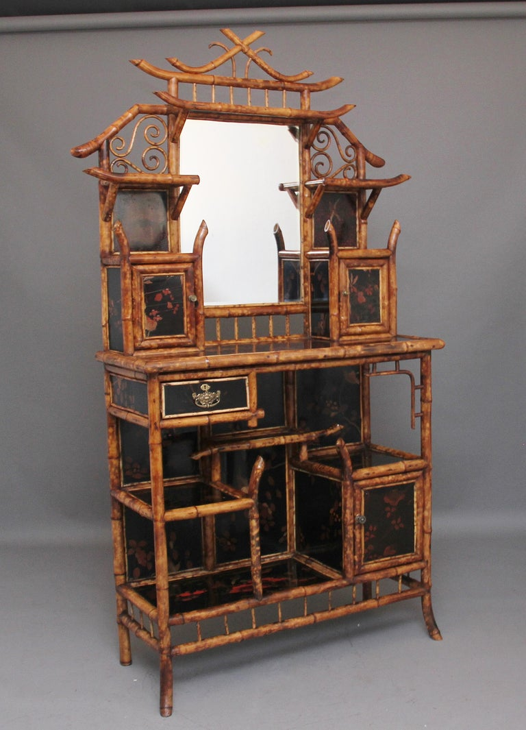 British Impressive 19th Century Bamboo Cabinet For Sale