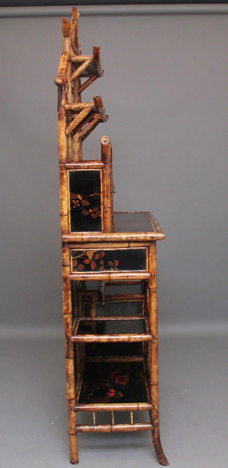 Late 19th Century Impressive 19th Century Bamboo Cabinet For Sale
