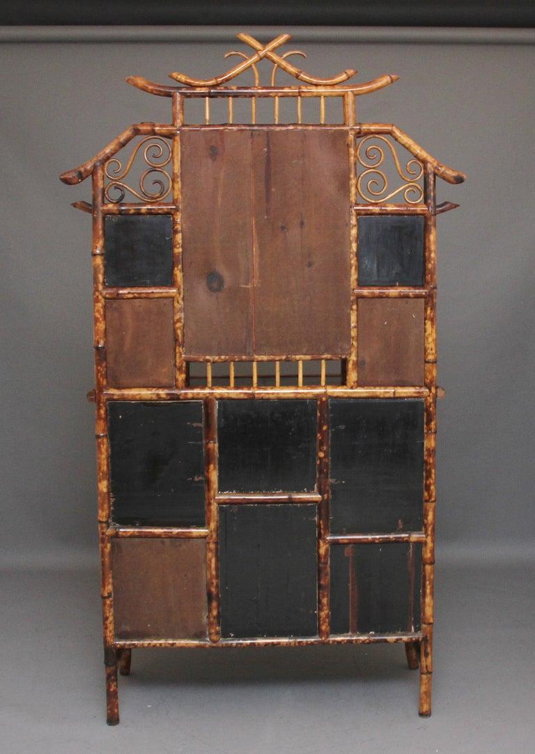 Impressive 19th Century Bamboo Cabinet For Sale 1