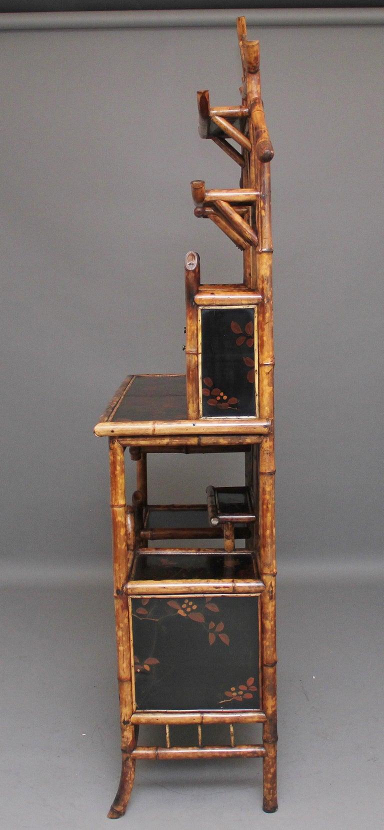 Impressive 19th Century Bamboo Cabinet For Sale 2